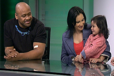 The Lomu family – Jonah, Nadene, Brayley and Dhyreille – talked with John Campbell about the campaign
