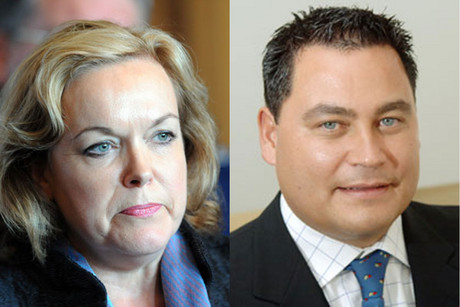 Judith Collins and Charles Chauvel