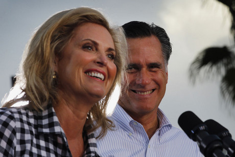 Ann Romney, wife of Republican presidential nominee Mitt Romney, at a campaign rally in St. Petersburg, Florida (Reuters/Brian Snyder)