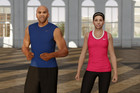 Nike+ Kinect Training in-game trainers Alex Molden and Marie Purvis