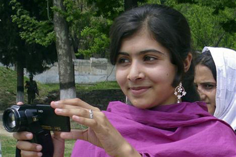 Undated file photo of Malala Yousufzai, a 14-year-old schoolgirl, who was wounded in a gun attack in Swat Valley northwest Pakistan (Reuters)