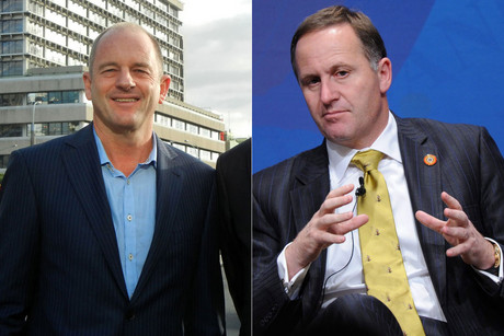 Daivid Shearer and John Key