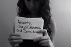 A still taken from the You Tube video uploaded by Amanda Todd