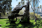 Michael Parekowhai's work 'The World Turns' (AAP)