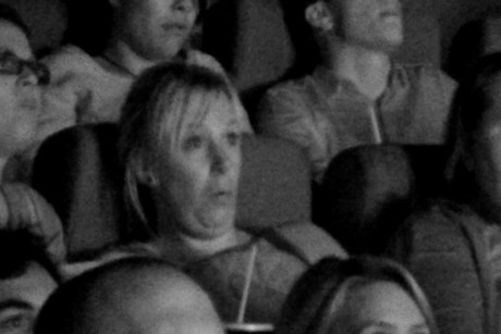 An Auckland crowd reacts to Paranormal Activity 4