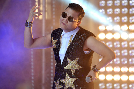 South Korean pop artist Jae-Sang Park, aka Psy, performs in Sydney (AAP)