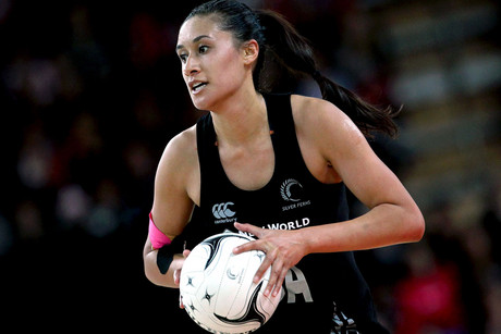 Maria Tutaia did most of the damage for the Ferns with an almost perfect shooting netting 31/32 (Photosport file)