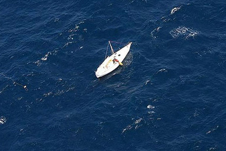 The yacht was more than 200 nautical miles off the coast (Photo: Australian Maritime Safety Authority)