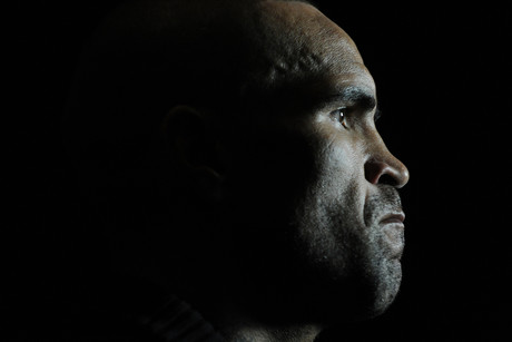 Anthony Mundine with his mouth firmly closed - not how it was when face-to-face with Daniel Geale (AAP)  