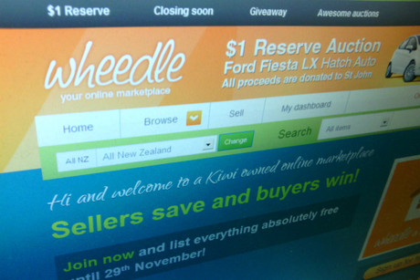 The front page of Wheedle.co.nz