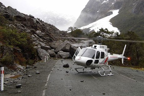 The man was killed while working to clear a rockfall on the Milford Rd
