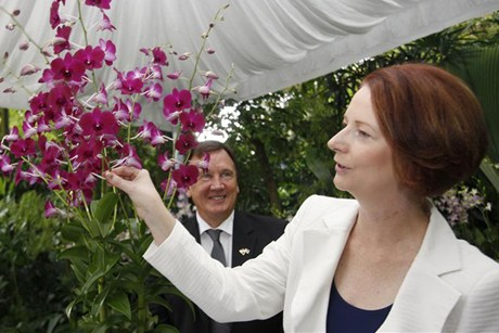 John Key has congratulated Julia Gillard on the news (Reuters)