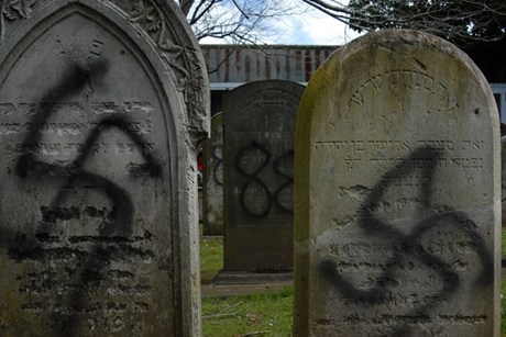 More than 20 headstones at Auckland's oldest graveyard were vandalised with anti-Semitic slogans and swastikas last week