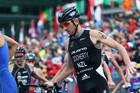 Bevan Docherty competing in the ITU World Cup final on Sunday (Photosport)