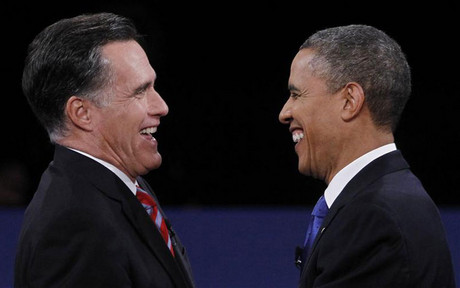 Republican presidential nominee Mitt Romney and US President Barack Obama (Reuters)