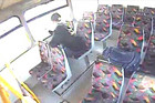 The bus etcher was caught on security footage