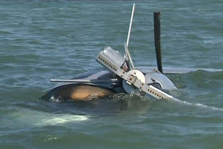 Their gyrocopter lost power shortly after take-off and landed in the water