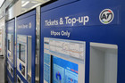 The new AT HOP cards can be topped up using self-service machines like these ones at Britomart (Photo: Will Pollard)