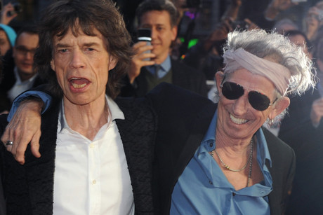 Mick Jagger and Keith Richards earlier this year (AAP)
