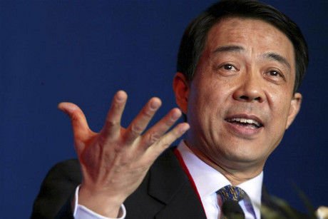 Bo Xilai, then Governor of Liaoning Province, gestures as he delivers a speech at the China Entrepreneur Annual Meeting in Beijing (Reuters)