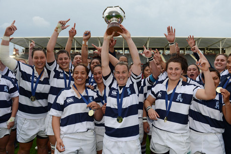 Auckland women's rugby team celebrate their win (Photosport)