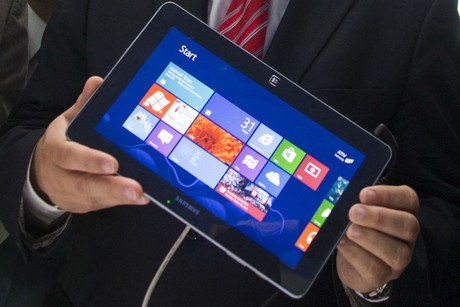 Windows 8 on a Samsung tablet (Reuters)