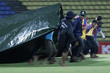 The covers were a sight for sore BlackCaps' batting eyes after a poor performance (Reuters)