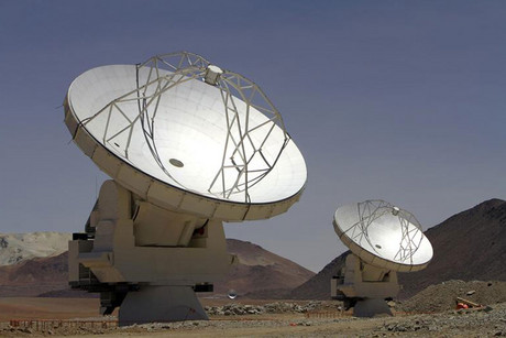 Parabolic antennas of the ALMA project at the El Llano de Chajnantor in the Atacama desert (Reuters)