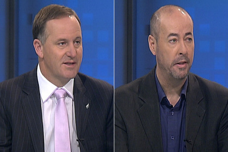 John Key and Jon Stephenson on Firstline this morning