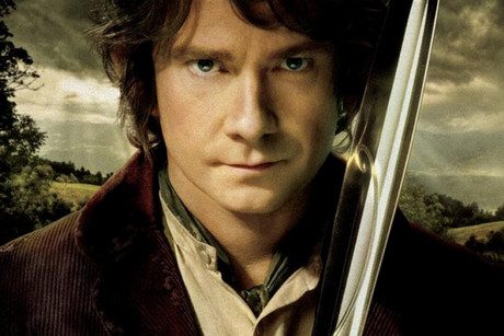 Martin Freeman as Bilbo Baggins in poster art for The Hobbit: An Unexpected Journey