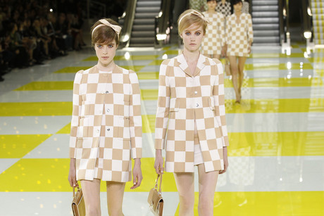 Models on the Louis Vuitton catwalk at Paris Fashion Week (Reuters)