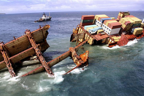 it is one year on since the Rena ran aground (Reuters)