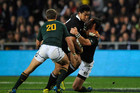 Julian Savea in the tackle against the Springboks (Photosport file)