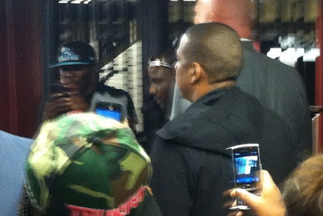 Jay-Z in a New York subway station (Instagram.com)