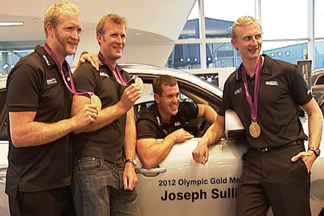 (from left) Eric Murray, Mahe Drysdale, Joseph Sullivan and Hamish Bond