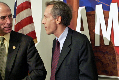 Former Republican Virgil Goode (R) is seen here while still the Republican representative for Virginia in 2006 (Reuters/Kevin Lamarque)