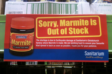 Marmite has been off the shelves since March