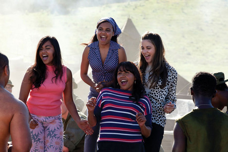 Jessica Mauboy plays one of a group of aboriginal sisters who get plucked from Outback Australia by a mostly drunk Irish manager