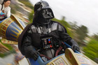 Darth Vader at the 'Happiest Place on Earth' in the Disneyland ad