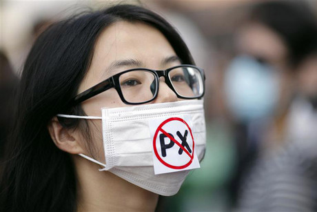 A Chinese protester (Reuters)