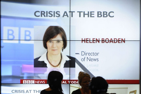 "The BBC's director of news, Helen Boaden, and her deputy have ""stepped aside"" pending the outcome of an internal review (Reuters)"