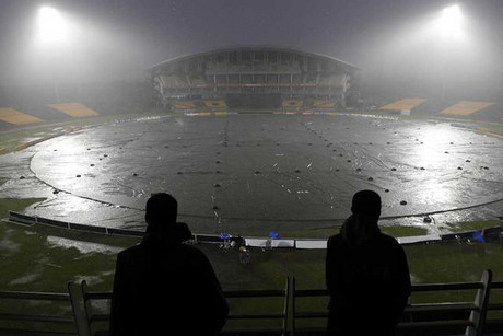 The match between Sri Lanka and New Zealand in Hambantota was abandoned (Reuters)