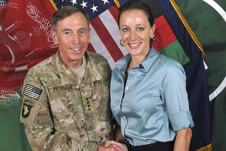 Ex-CIA director David Petraeus in July 2011 with Paula Broadwell, the woman he had an affair with (Reuters / ISAF file)