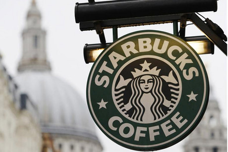Signage outside a London Starbucks store (Reuters file)