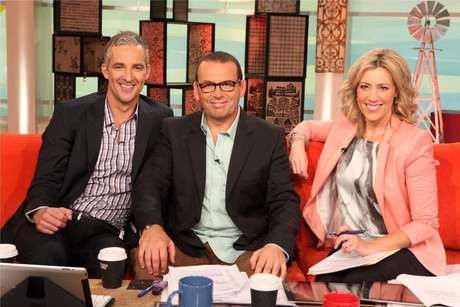 Paul Henry, Andrew Rochford and Kathryn Robinson, of Ten's Breakfast show (AAP)