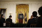 US President Barack Obama addresses a news conference at the White House in Washington (Reuters)