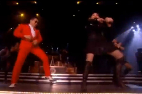 Madonna and Psy performing together