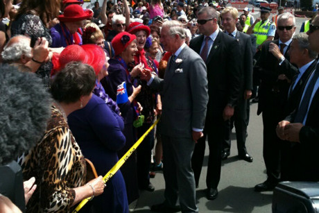 Prince Charles meets locals in Feilding (Photo: Emma Jolliff / 3 News)