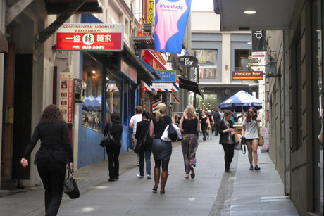 Shoppers in Auckland