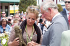 Britain's Prince Charles speaks to a family member of Lieutenant Timothy O'Donnell (Reuters)